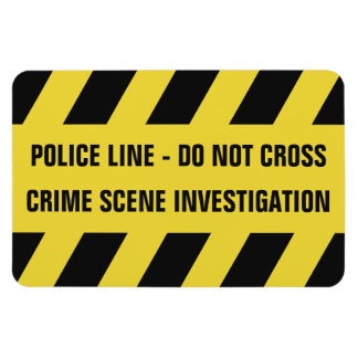 Faux Police Line custom text magnet