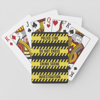 Faux Police Line custom text playing cards
