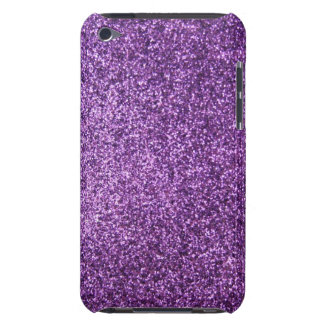 Faux Purple Glitter Barely There iPod Cover