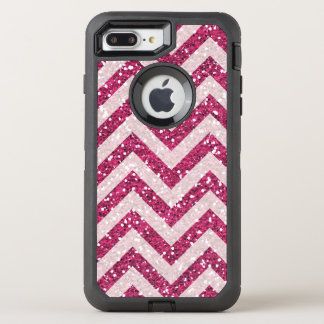 Faux purple glitter chevron iPhone 7 plus case