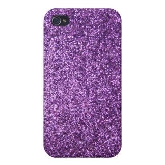 Faux Purple Glitter iPhone 4/4S Case