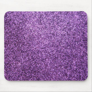 Faux Purple Glitter Mouse Mat