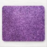 Faux Purple Glitter Mouse Pad