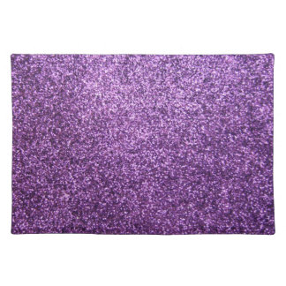 Faux Purple Glitter Placemat