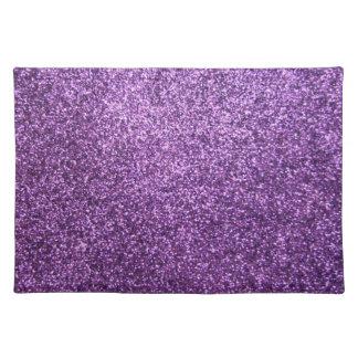 Faux Purple Glitter Placemats