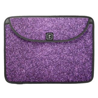 Faux Purple Glitter Sleeve For MacBook Pro
