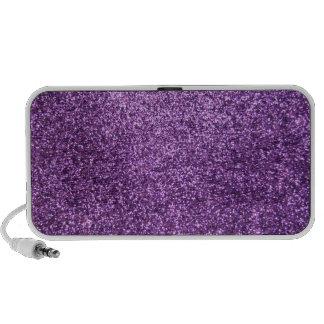 Faux Purple Glitter Mini Speakers