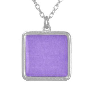 Faux Purple Linen Fabric Textured Background Pendant