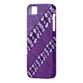 Faux Purple Rhinestone & Feather Iphone4 Case iPhone 5 Cases