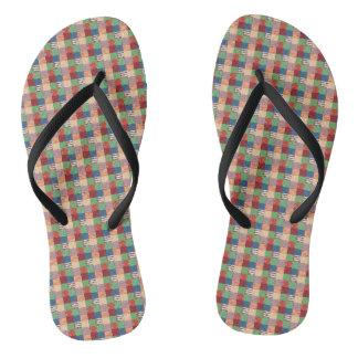Faux Quilt Flip Flops