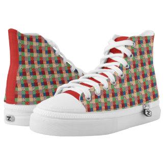 Faux Quilt High Top Shoes