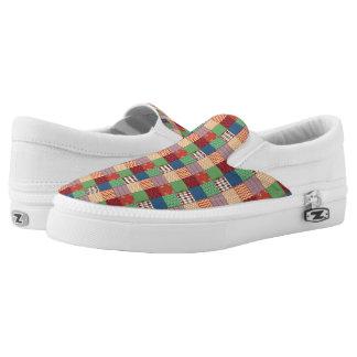 Faux Quilt Slip On Shoes