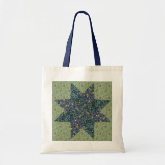 Faux Quilted Star Tote Bag