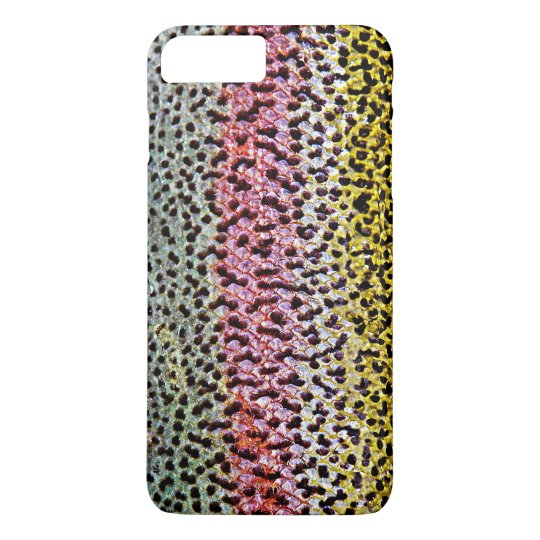 Faux Rainbow Trout Scale Texture Look Pattern iPhone 7 Plus Case