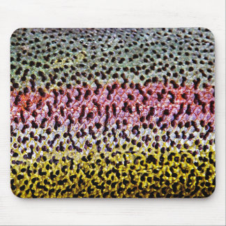 Faux Rainbow Trout Scale Texture Look Pattern Mouse Mat