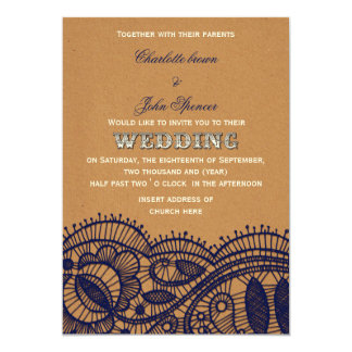 FAUX recycle paper,  lace wedding invitations