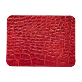 Faux red alligator leather magnet