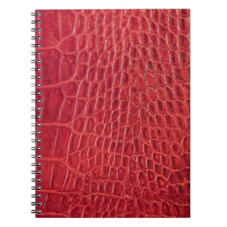 Faux red alligator leather notebook