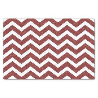 Faux Red Glitter Chevron Tissue Paper