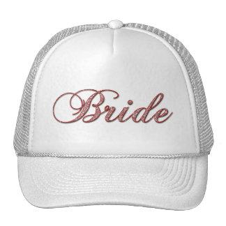 Faux red Sparkle Bride Cap
