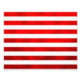 """Faux Red White Horizontal Stripes """"Candy Stripe"""" Photo Print"""