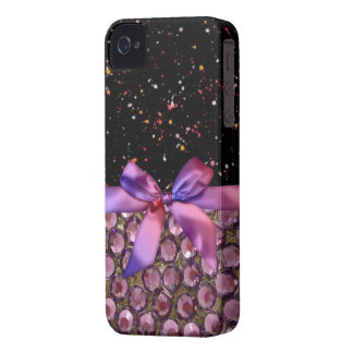 Faux Rhinestone,Bows & Ribbons Iphone4 Case iPhone 4 Covers