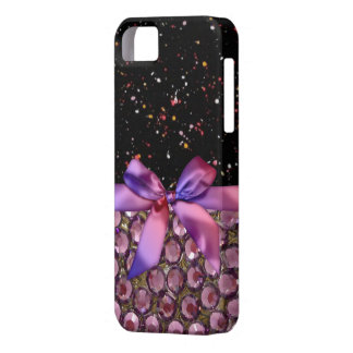 Faux Rhinestone,Bows & Ribbons Iphone4 Case iPhone 5 Cases