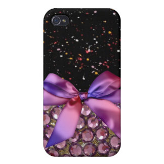 Faux Rhinestone,Bows & Ribbons Iphone4 Case Covers For iPhone 4