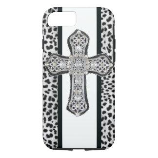 Faux Rhinestone Cross iPhone 7 case