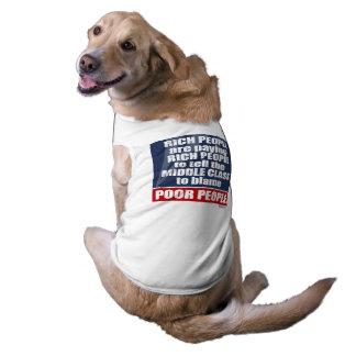 FAUX - Rich People Blaming Poor People Sleeveless Dog Shirt