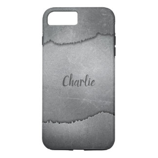 Faux Ripped Metal custom name phone cases