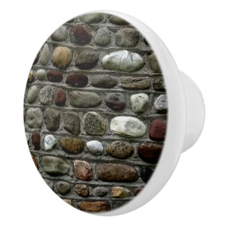 Faux Rock Mosaic Pattern Ceramic Knob