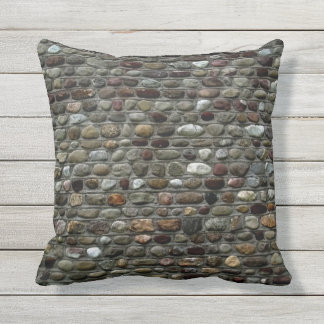 Faux Rock Mosaic Pattern Outdoor Cushion