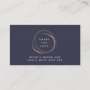 Faux Rose Gold Abstract Logo Referral