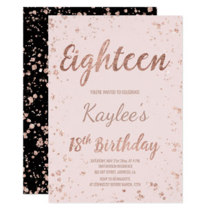 18th birthday invitations announcements zazzle uk faux rose gold confetti blush 18th birthday invitation stopboris Image collections