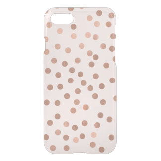 Faux Rose Gold Confetti {choose background color} iPhone 7 Case