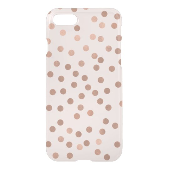 Faux Rose Gold Confetti {choose background colour} iPhone