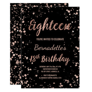 18th Birthday Invitations Announcements Zazzle Co Uk