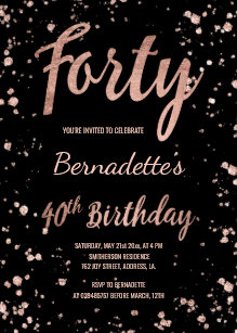 40th birthday invitations zazzle uk