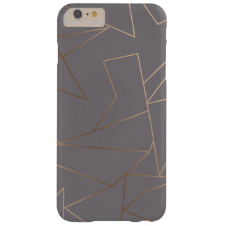 Faux rose gold elegant modern minimalist geometric barely there iPhone 6 plus case