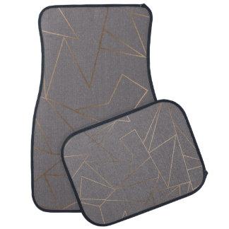 Faux rose gold elegant modern minimalist geometric car mat