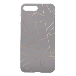 Faux rose gold elegant modern minimalist geometric iPhone 8 plus/7 plus case