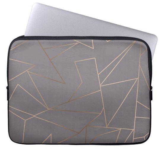 Faux rose gold elegant modern minimalist geometric laptop
