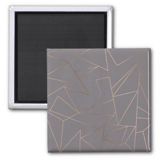 Faux rose gold elegant modern minimalist geometric magnet