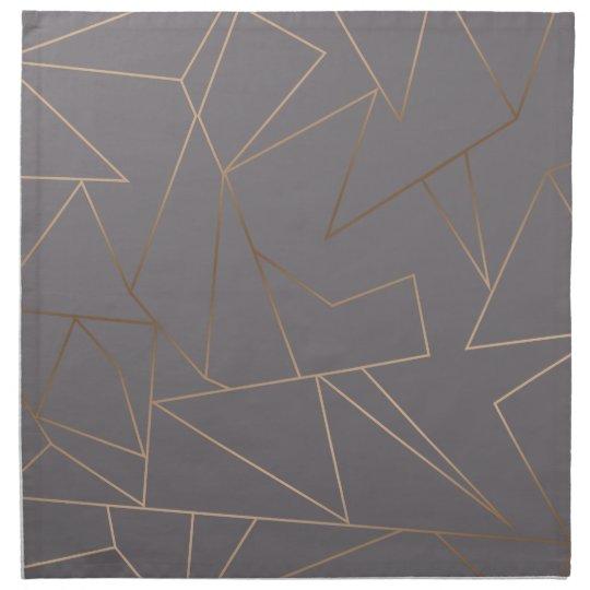 Faux rose gold elegant modern minimalist geometric napkin