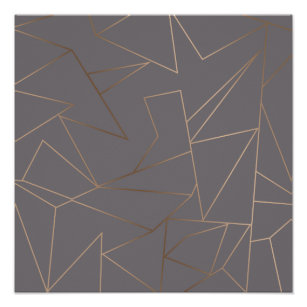 641cf0007 Faux rose gold elegant modern minimalist geometric poster