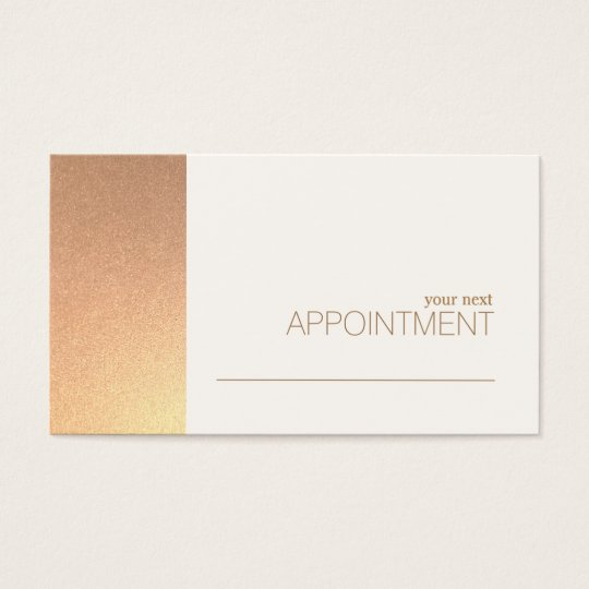FAUX Rose Gold Foil Salon & Spa Appointment