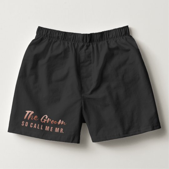 Faux Rose Gold Foil The Groom Wedding Underwear