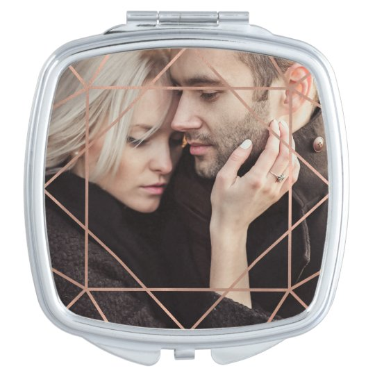 Faux Rose Gold Geometric Overlay with your Photo