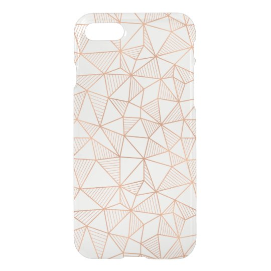 Faux Rose Gold Geometric Pattern Clear iPhone 8/7